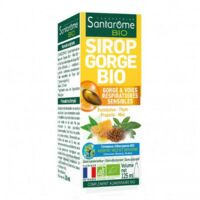 Santarome Bio Sirop Gorge Fl/125ml à ARGENTEUIL