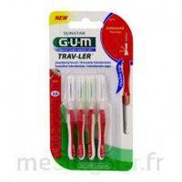 Gum Trav - Ler, 0,8 Mm, Manche Rouge , Blister 4 à ARGENTEUIL