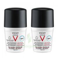 Vichy Homme Déodorant Anti-transpirant Anti Trace 48h 2*billes/50ml à ARGENTEUIL