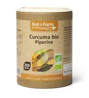 Nat&form Eco Responsable Curcuma + Pipérine Bio Gélules B/200 à ARGENTEUIL