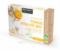 Nat&form Ampoules Solution Buvable Tonus Vitalité Bio 20 Ampoules/10ml à ARGENTEUIL