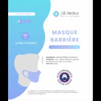 Masque Barrière Non Médical Adulte Blancs B/6 à ARGENTEUIL
