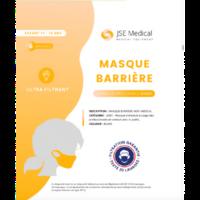Masque Barrière Non Médical Enfant (11/16 Ans) Blancs B/6 à ARGENTEUIL