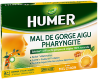 Humer Pharyngite Pastille Mal De Gorge Miel Citron B/20 à ARGENTEUIL
